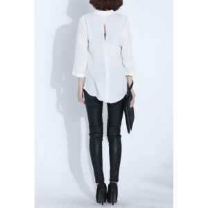 Plunging Neck Asymmetric Blouse -