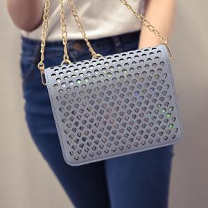 Fashionable Chain and Hollow Out Design Crossbody Bag For Women -
