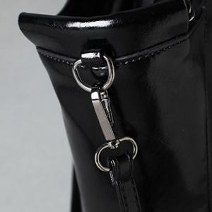 Stylish Solid Colour and Chain Design Shoulder Bag For Women -