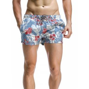 Fashion Leaves Printed Boardshorts For Men -