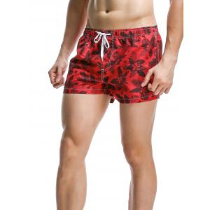 Fashion Plants Printed Boardshorts For Men -