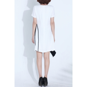 Color Block Irregular Dress -