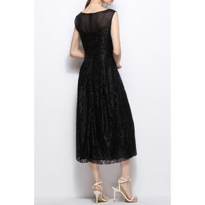 Pleated Lace Dress -