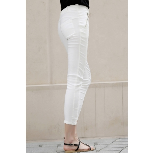 Skinny Lace Pants With Zip -