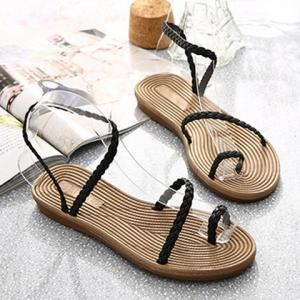 Leisure Weaving and Flat Heel Design Sandals For Women -
