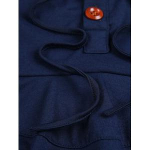 Heaps Collar Buttons Embellished Long Sleeve T-Shirt For Men -