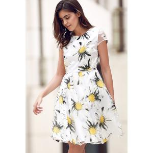 Floral Print Fit and Flare Dress -