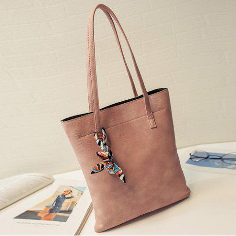Fancy Leisure Solid Color and PU Leather Design Shoulder Bag For Women - LATERITE  Mobile