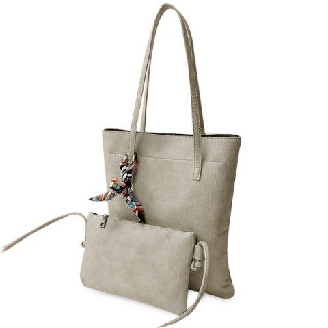 Cheap Leisure Solid Color and PU Leather Design Shoulder Bag For Women - OFF-WHITE  Mobile