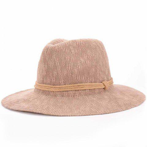 Outfits Chic Three Layered Rope Embellished Holiday Sun Hat For Women - KHAKI  Mobile