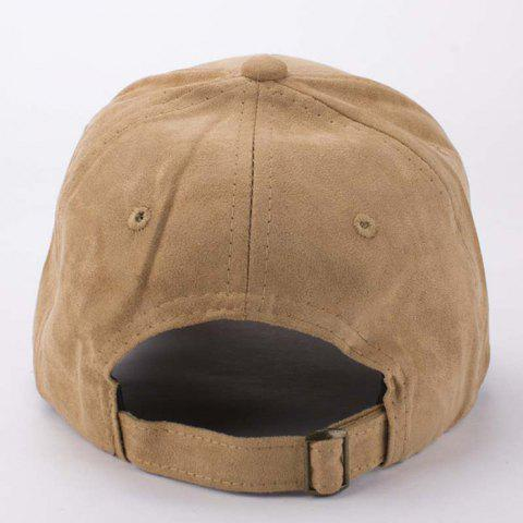 Discount Stylish Cartoon Dog Head Embroidery Hot Summer Suede Baseball Cap For Men - LIGHT COFFEE  Mobile