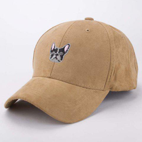 Sale Stylish Cartoon Dog Head Embroidery Hot Summer Suede Baseball Cap For Men