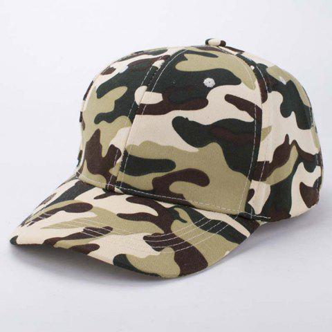 Online Stylish Soldier Camouflage Pattern Baseball Cap For Men