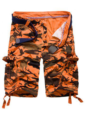 Fashion Loose Fit Multi-pockets Camo Printed Men's Cargo Shorts - 31 JACINTH Mobile