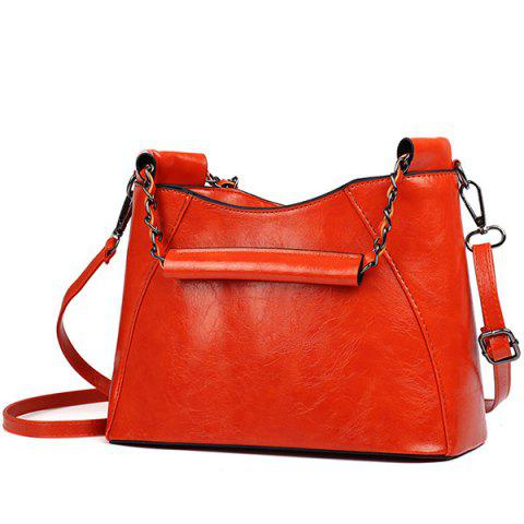 Store Stylish Solid Colour and Chain Design Shoulder Bag For Women