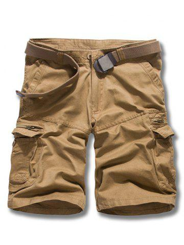 Shops Loose Fit Solid Color Men's Cargo Shorts EARTHY 31