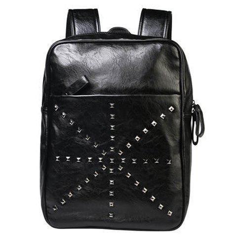 Outfits Trendy Rivet and Black Color Design Backpack For Men