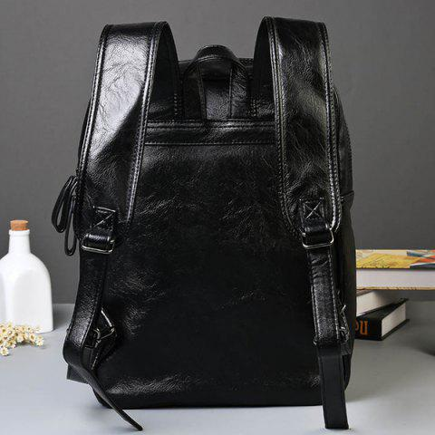 Outfit Trendy Rivet and Black Color Design Backpack For Men - BLACK  Mobile