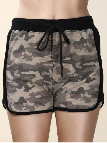 Outfit High Waisted Mesh Trim Camouflage Shorts