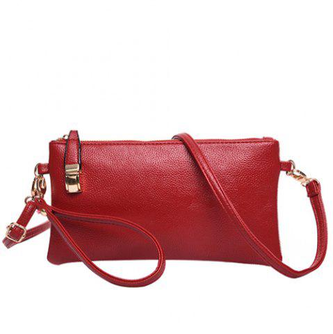 Buy Leisure Metal and Solid Colour Design Clutch Bag For Women