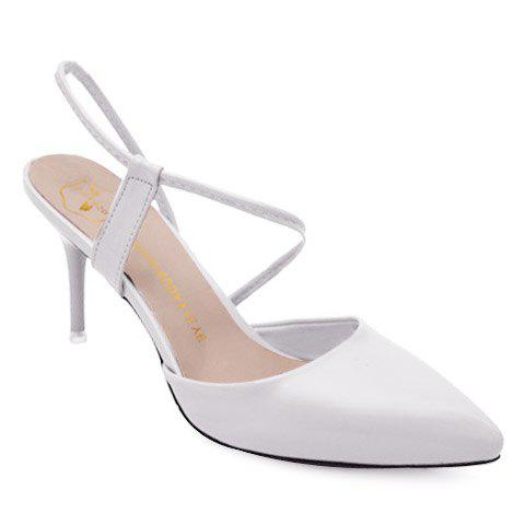 Outfits Elegant Pointed Toe and Stiletto Heel Design Sandals For Women WHITE 39