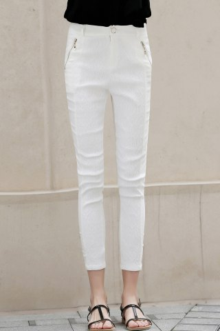 Discount Skinny Lace Pants With Zip