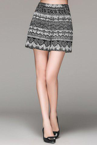 Best Zippered High Waisted Patterned Shorts