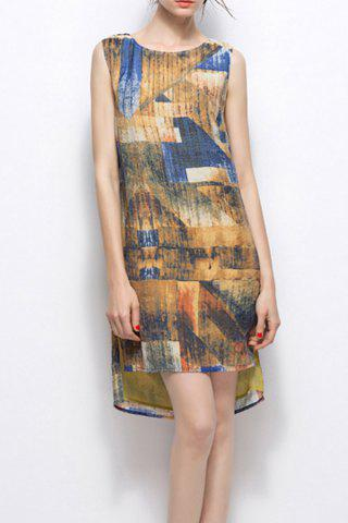 Chic Abstract Print Dress