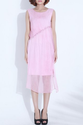 New Pure Color Sleeveless Dress