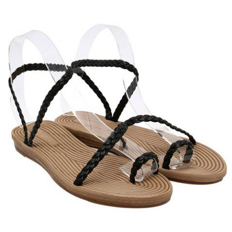 Fashion Leisure Weaving and Flat Heel Design Sandals For Women