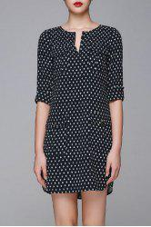 Jacquard Half Sleeve Dress -