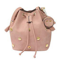 Trendy Metal and String Design Shoulder Bag For Women -