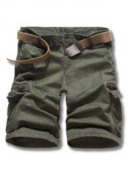 Loose Fit Solid Color Men's Cargo Shorts