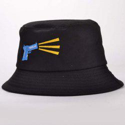 Stylish Hand Gun Embroidery Funny Bucket Hat -