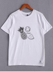 Casual Patterned White T-Shirt For Women -