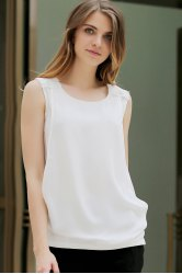 Solid Color Round Neck Tank Top -