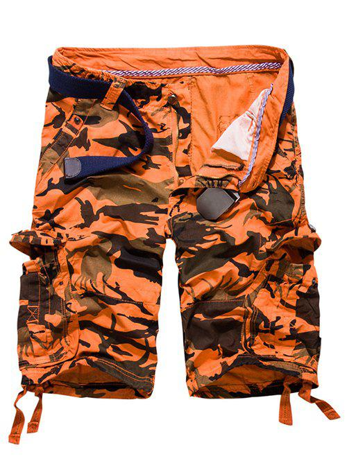 Outfit Loose Fit Multi-pockets Camo Printed Men's Cargo Shorts