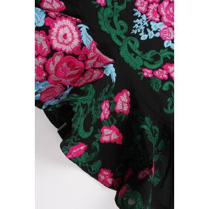 Floral Embroidered Mermaid Dress -