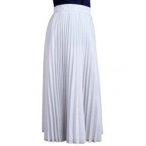 Elegant Solid Color Pleated Women's Expansion Skirt -