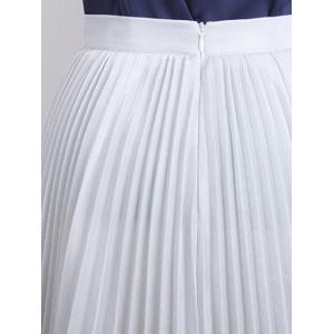 A-line Pleated Midi Skirt -