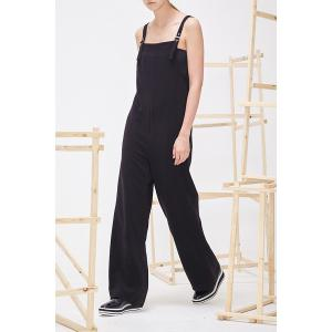 Pure Color Wide-Leg Jumpsuit -