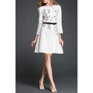 Lady Style Stereo Flower Dress -