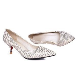 Elegant Hit Color and Pointed Toe Design Pumps For Women -