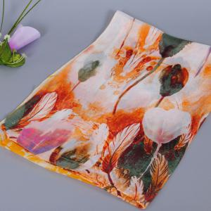 Chic Handpainted Tulip Pattern Chiffon Scarf For Women -