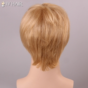 Siv Hair Shaggy Straight Human Hair Men's Wig -