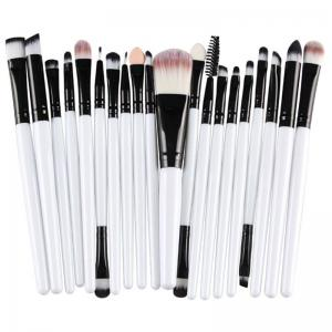 Stylish 20 Pcs Multifunction Plastic Handle Nylon Makeup Brushes Set