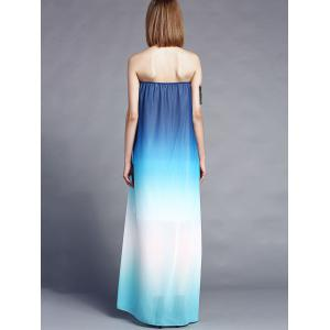 Ombre Color Maxi Bandeau Beach Dress -