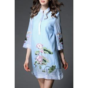Lotus Embroidered Dress -