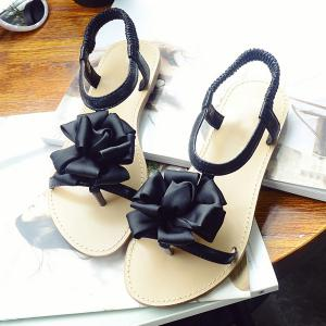 Casual Flower and Elastic Band Design Sandals For Women -