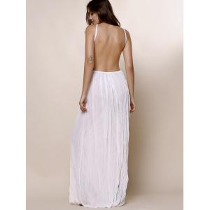 Maxi Backless Slip Beach Lace Insert Dress -